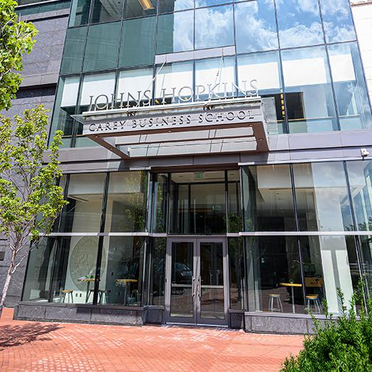 johns hopkins carey business school's Baltimore campus