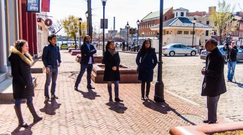 carey business school students in fells point baltimore