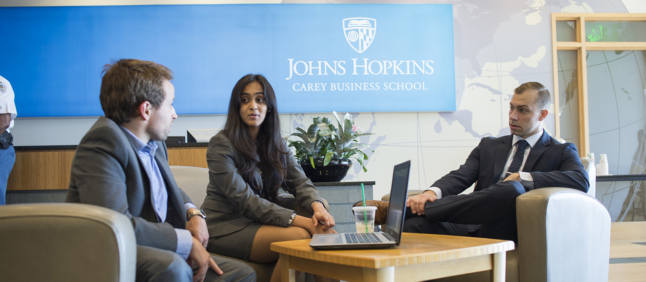 Students at Carey Business School