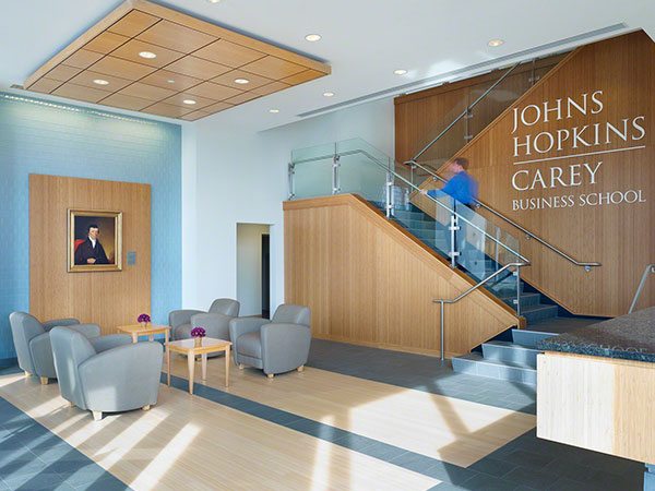 Carey Business School learning environment.