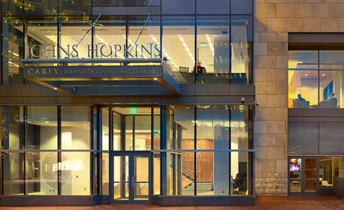 JHU Carey Business School Front Entrance Photo