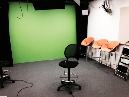 Carey Business School Media Room Green Screen