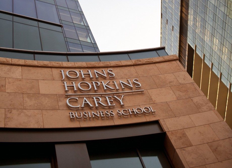 Photo of The John Hopkins Carey Business School Building