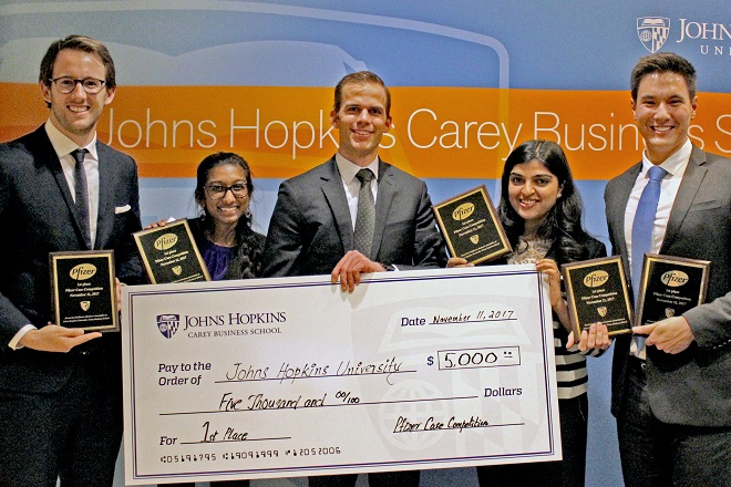 Johns Hopkins Students Win Pfizer Case Competition