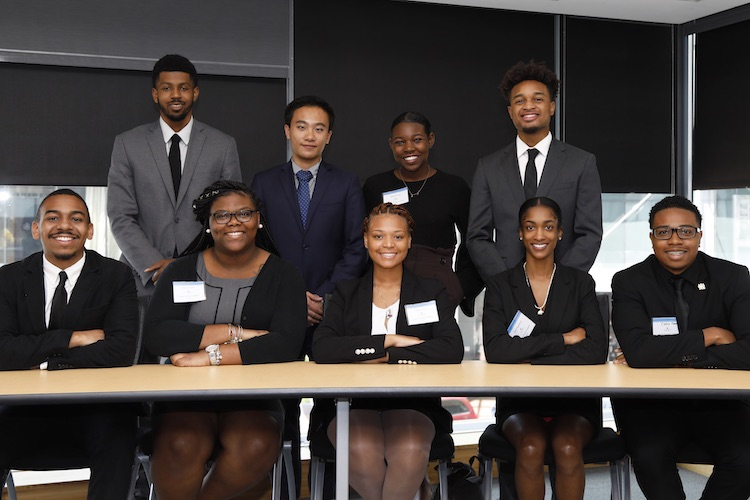 Group picture of the 2019 scholars with the Carey Business School's Summer Business Academy